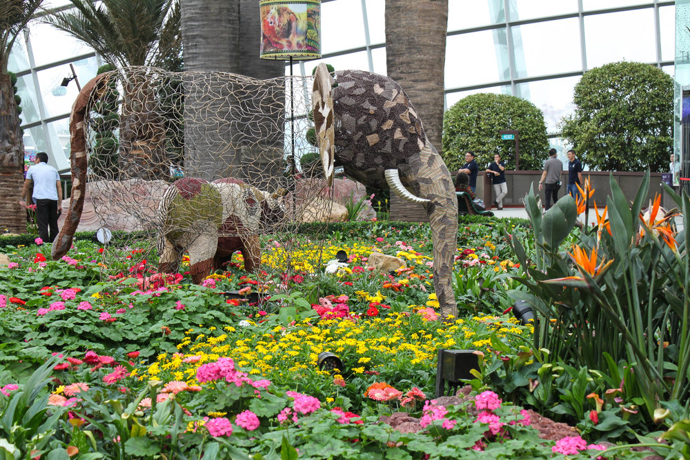 The display within the the Flower dome
