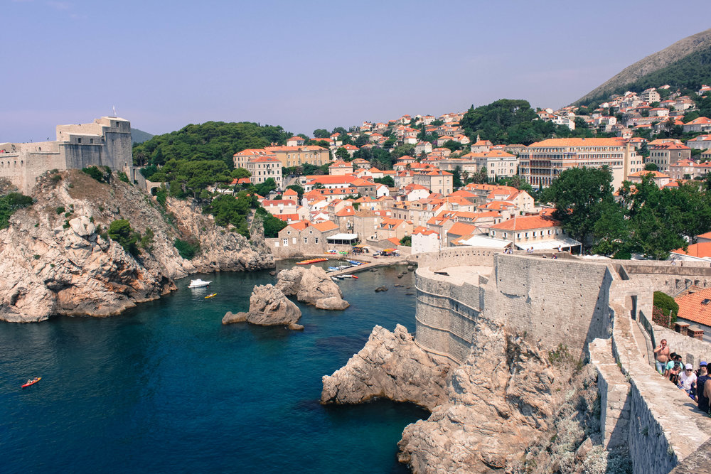 The Wall of Dubrovnik, giving off a different perspective of the city