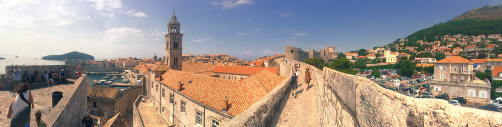 Panorama of Dubrovnik.
