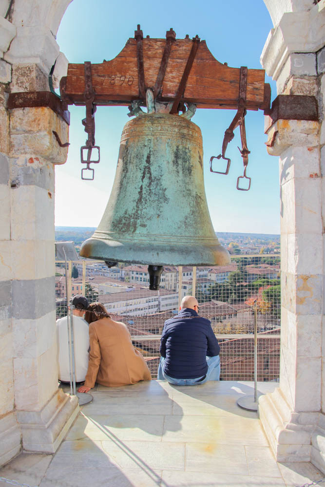 The bell indicating you're at the top