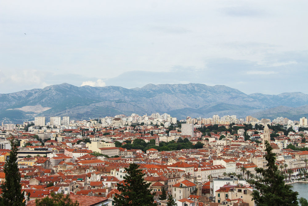 The incredible view of Split