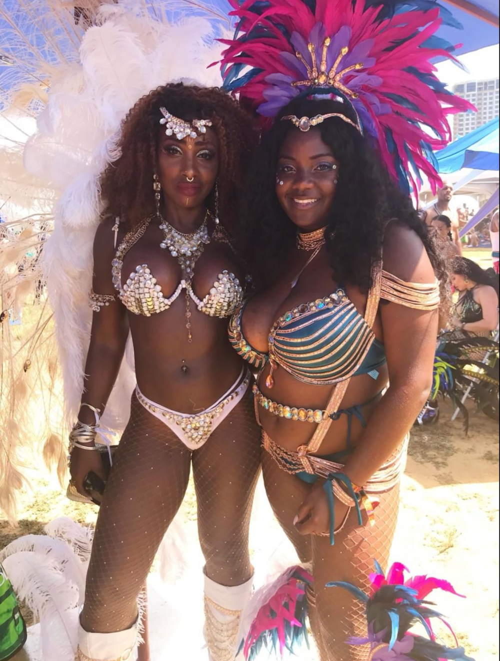 Right:Follower, @ heyyychanelle  celebrating Carnival in Trinidad 😍