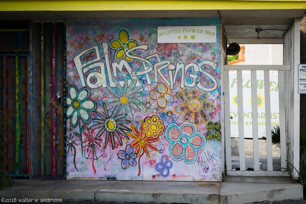 Palm springs nov 2017 walter w skidmore my little flower shop graffiti wall palm springs mightylinksfo