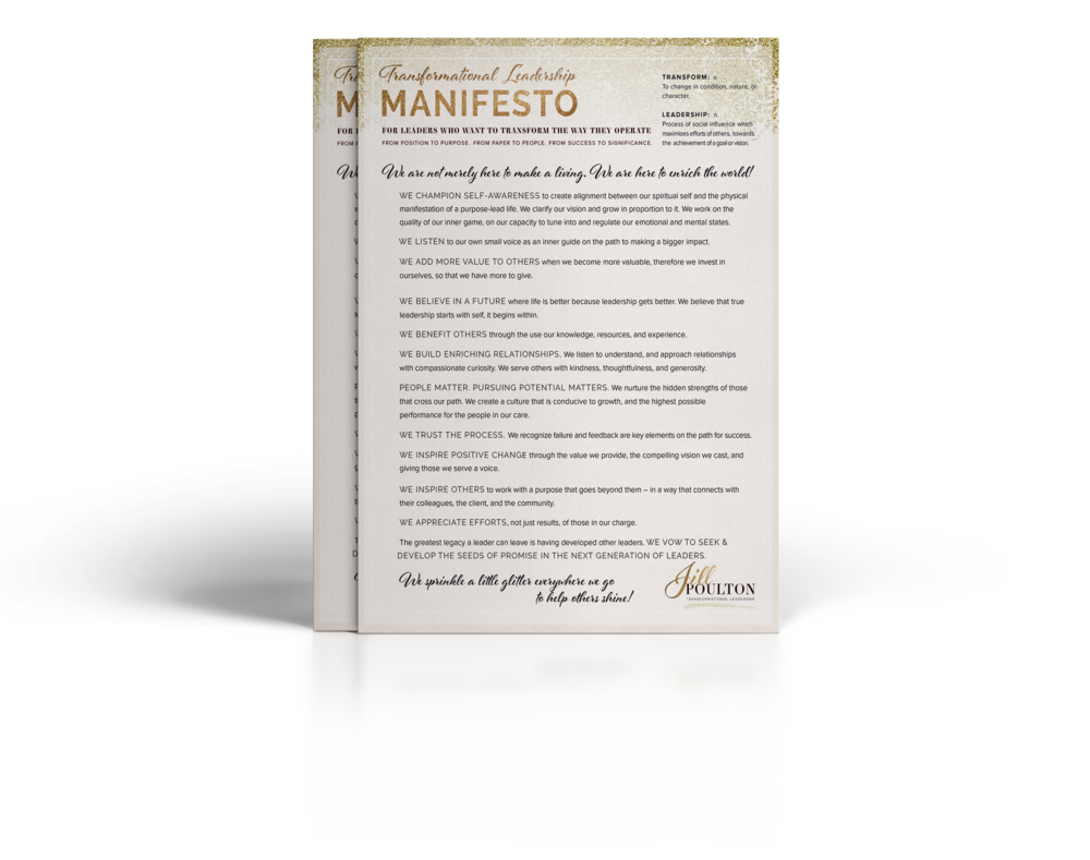 Transformational Leadership Manifesto