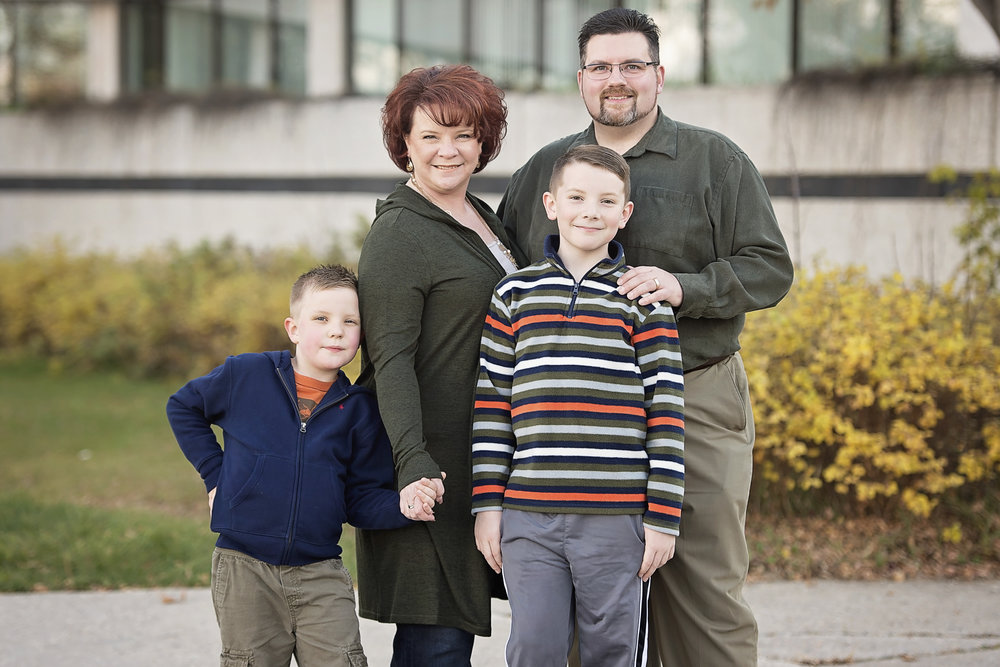 Jill Poulton Family Photo in Regina, Saskatchewan
