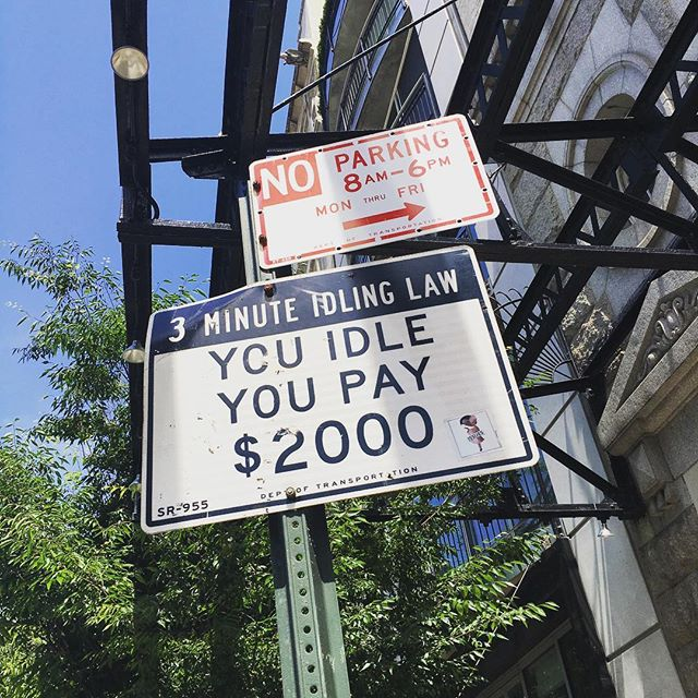The reason New Yorkers are SO busy ALL the time #idlinglaw #mustkeepmoving #notimetostop #newyork #streetsofnewyork #newyork_instagram