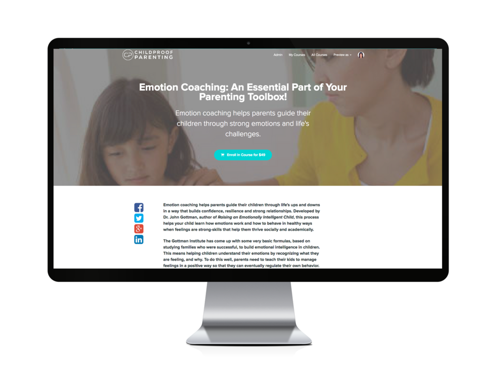 emotion coaching parenting course