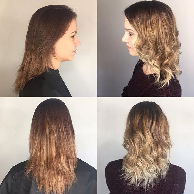 Before and after. Spring hair vibes! #hermosaedmond #hermosasalonokc #haircrush #springhair #highlights #curls #hairstyles #edmond #midlengthhair @hermosa.salon with Tyler