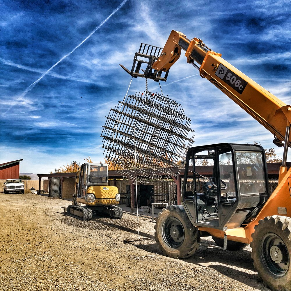 Moving the Rebar Sphere to the Buffalo Creek sculpture park