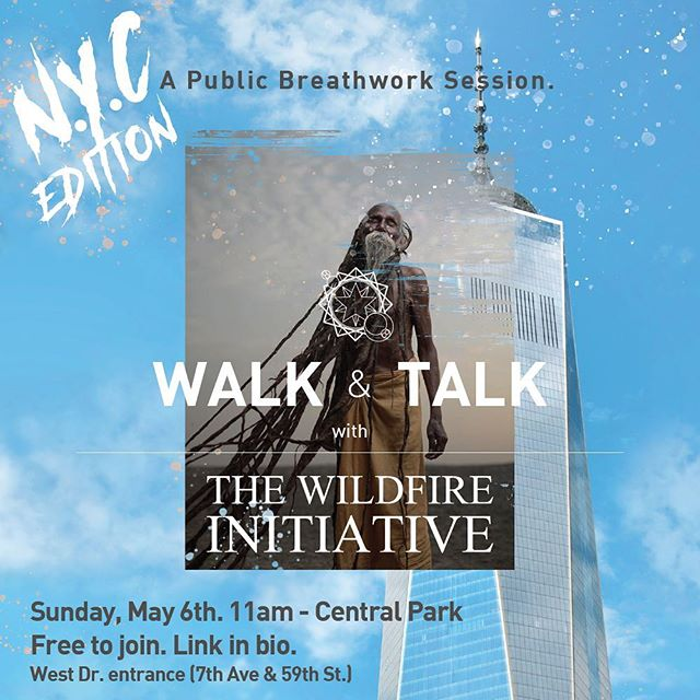 🗽🌊N.Y.C WHAT'S GOODIE! Come Walk & Talk this Sunday. Probably won't be back in this neck of the woods for a minute, so make sure you don't miss it. Made a lil' event registration (link in bio) it's free, just need to know who to expect. Tell ya friends, bring your mom, GF, BF, whatever. Everyone is welcome.  As per the usual we're here to experiment with the unusual. Get high on your breath, practice your presence, and meet dope people. All details are in the event details online, DM any additional questions. Tag a friend, SEE YOU SUNDAY! #thewildfireinitiative #walkandtalk #nobeliefsrequired