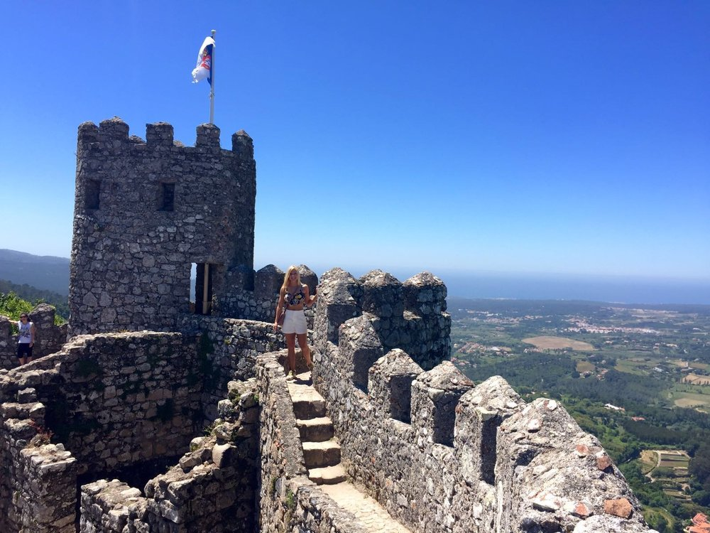 Anna Kooiman at a Sintra Castle outside Lisbon, Portugal