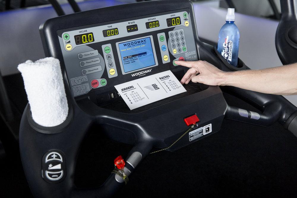 Mile High Run Club New York City Fitness Travel Lifestyle www.annakooiman.com Anna Kooiman treadmill display MHRC
