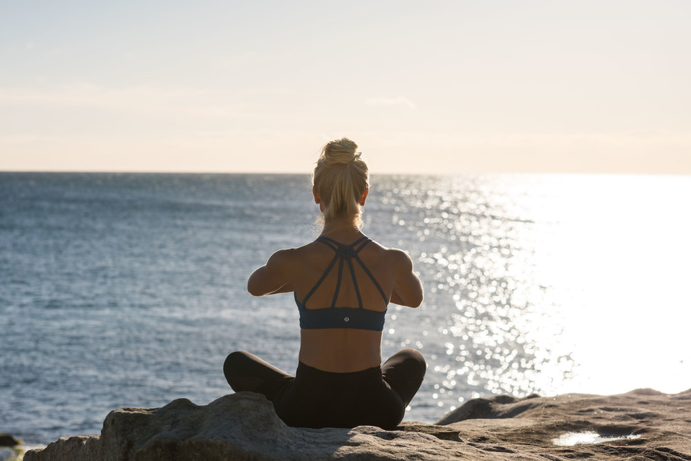 I like to incorporate some of the same types of stretching and meditation taught in Exhale classes into my own outdoor routine in Bondi Beach. It's great to get instruction from fitness experts indoors. But I can't get enough of outdoor training... and relaxation. ;-)