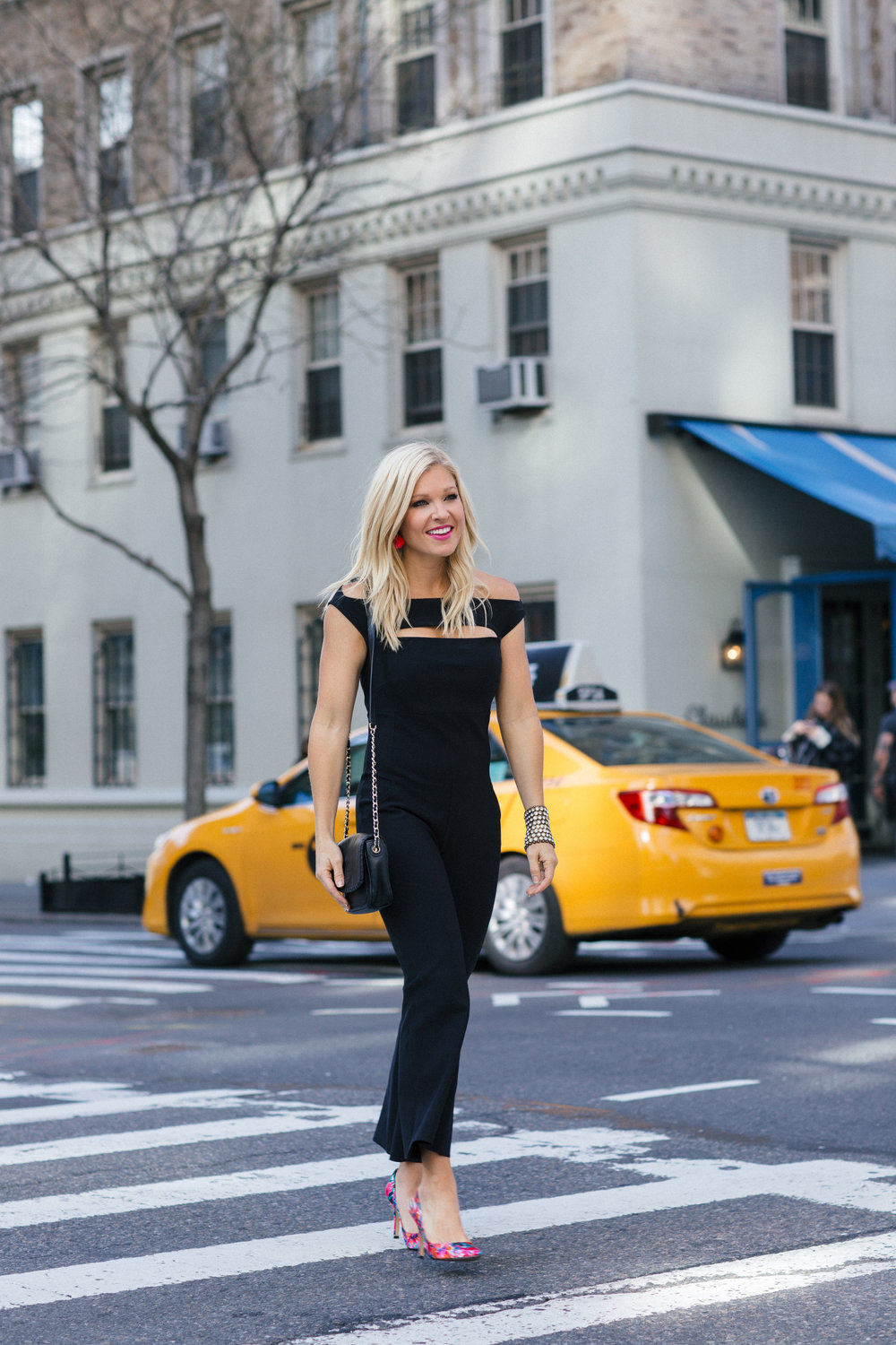Anna Kooiman New York City Fashion 5th Avenue black jumpsuit la petite robe west village nyc nine west tory burch Lydia Hudgens AnnaKooiman.com