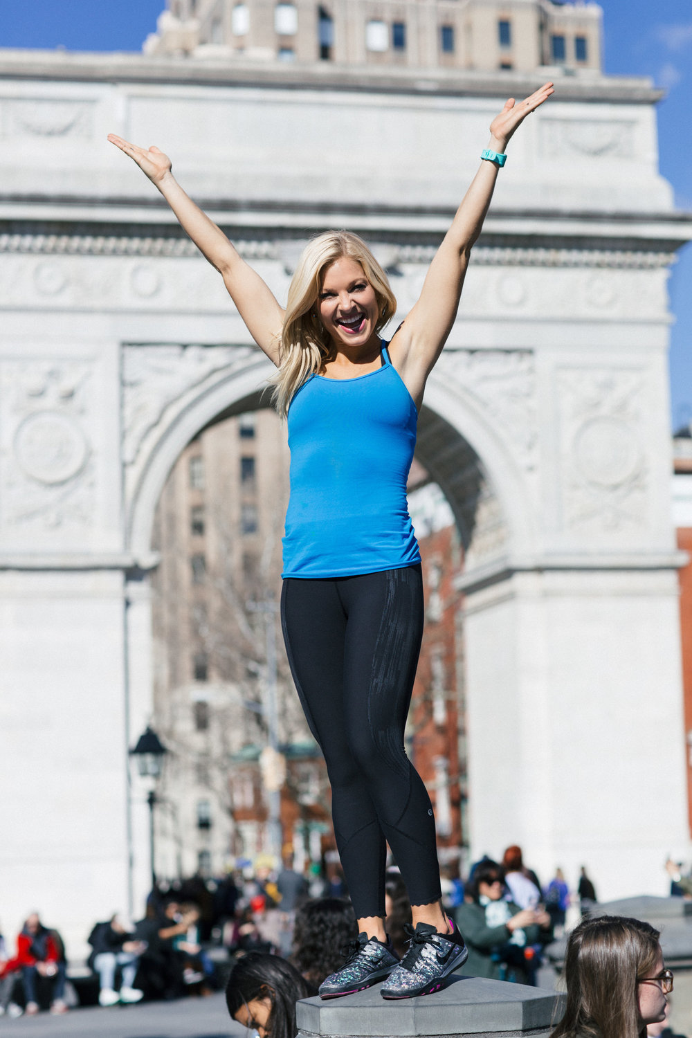 Anna Kooiman NYC New York City Fitness Washington Square Park Lydia Hudgens fashion