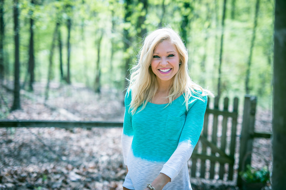 Anna Kooiman walking through nc woods charlotte eben adrian patten photography