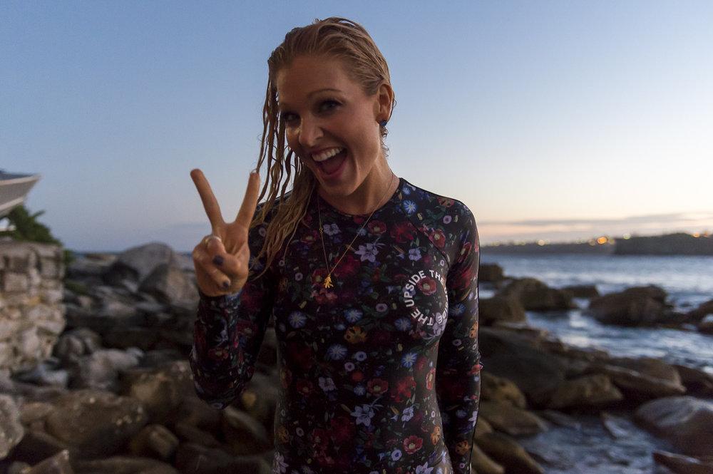 anna kooiman annakooiman.com fitness travel lifestyle paddle suit bikini bondi beach peace lyndon marceau