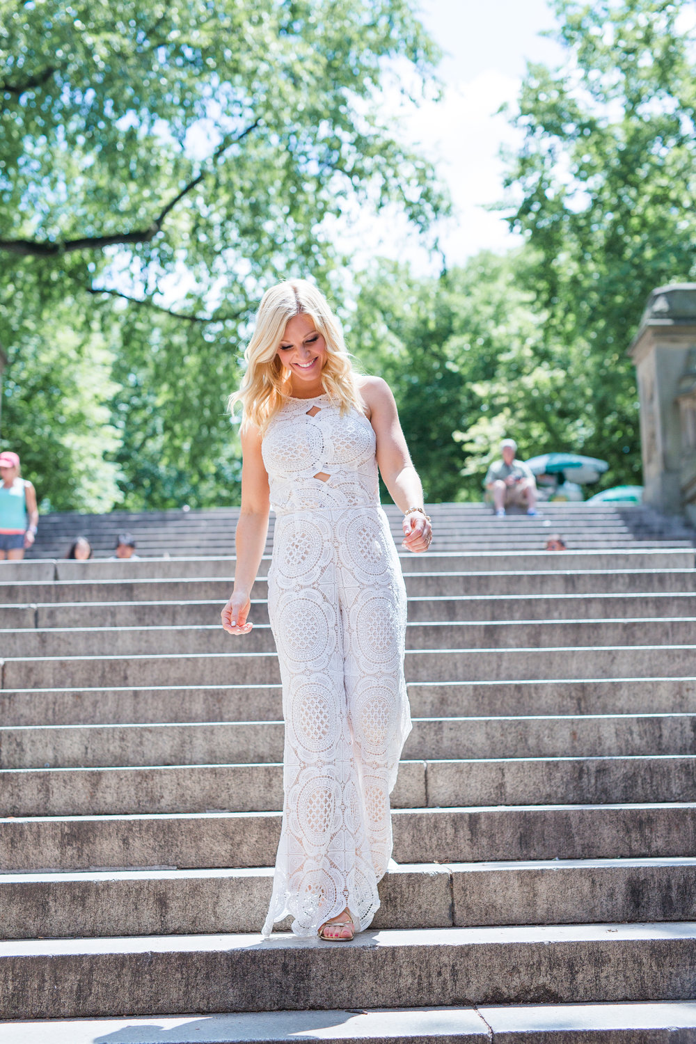 Anna Kooiman AnnaKooiman.com fitness travel lifestyle fashion white lace crochet jumpsuit charlotte new york sydney style trends rompers romper jumpsuits sugar lips australia usa sjopstyle shop style shop the look get the look
