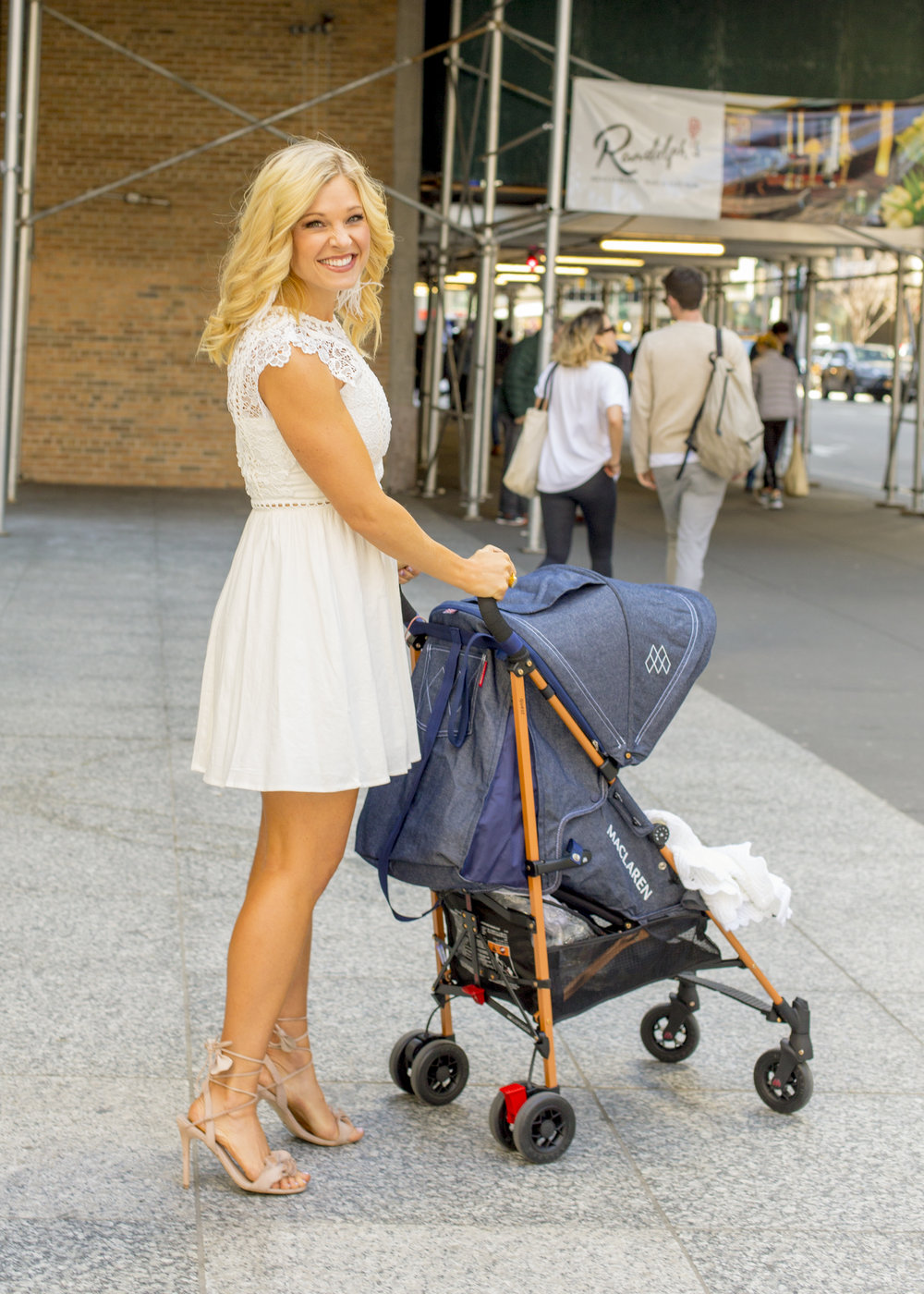 Anna Kooiman New York City 2018 Baby Brooks Newborn Infant Mom NYC fashion style fitness travel healthy living lifestyle white dress