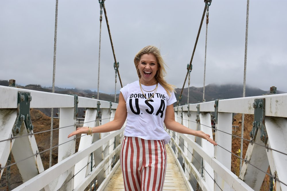 Anna Kooiman San Francisco Fourth of July fashion wild fox couture born in the use fitness travel lifestyle