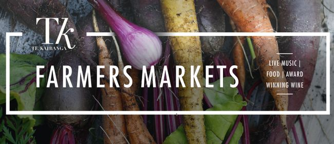 Te Kairanga's Farmers Market - Sunday 1 April 10:00amThe first Sunday of each month Te Kairanga hosts their local farmers market, where local businesses come to sell their fresh produce, hand made products. Food is available to buy and eat for lunch.Wine is available ...