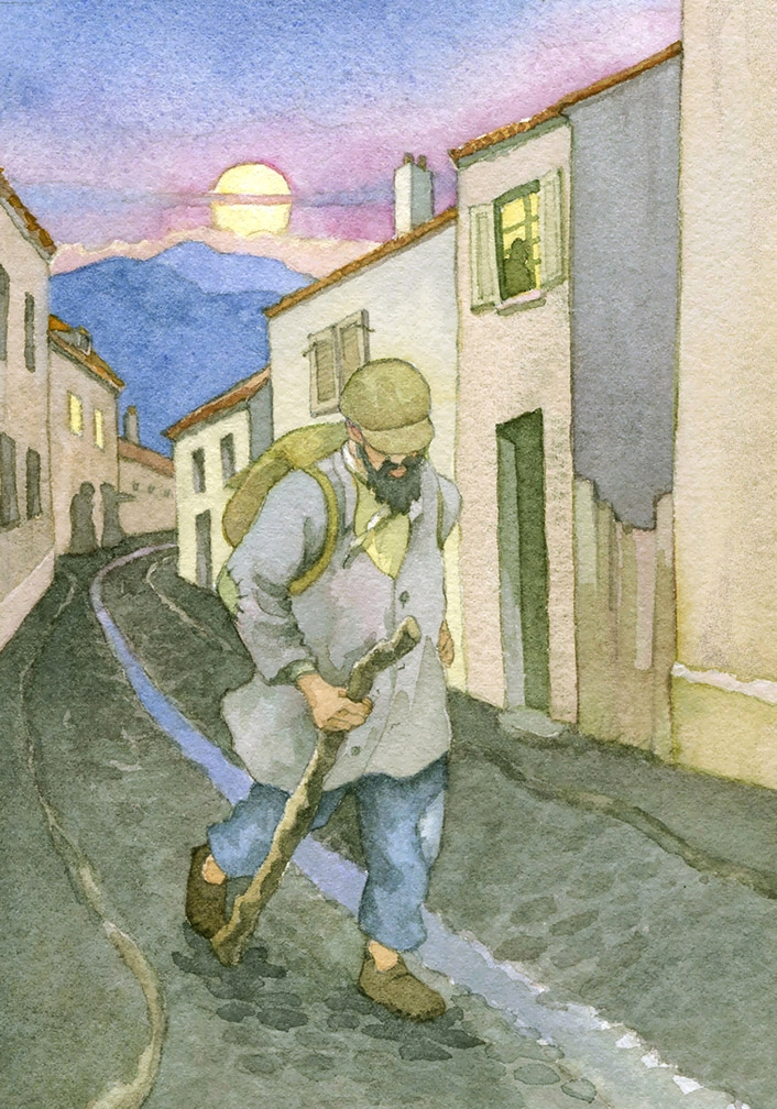 An hour before sunset in October 1815, a man traveling on foot entered a little town in France.