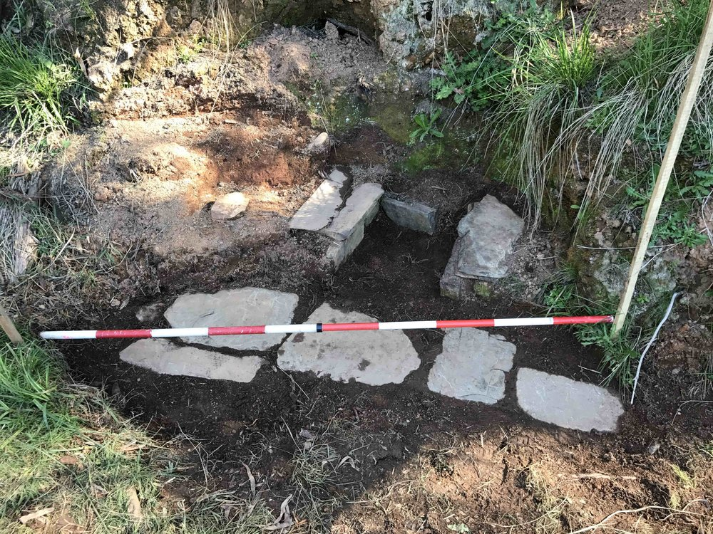 Stone Feature 1 - the first floor stones are revealed (photo: Melissa Dunk)