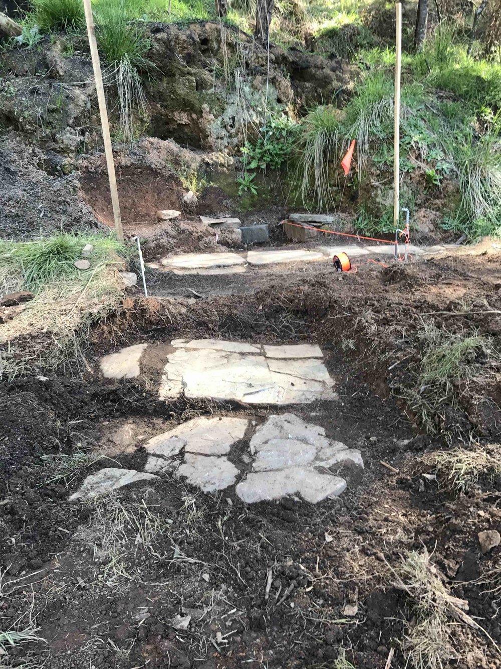 Stone Feature 1 - More stone flooring revealed (photo: Melissa Dunk)