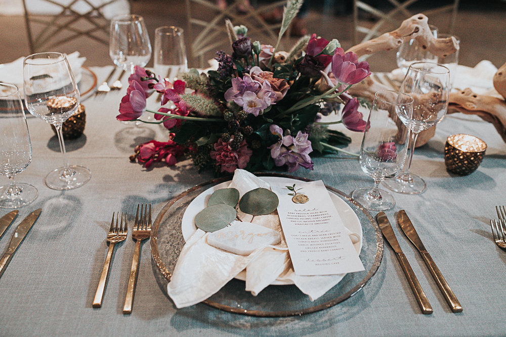 Table by Whim Hospitality, menu by Pink Champagne Paper