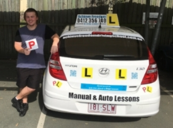 Achieve Freedom Driving School gets another Pass! Burliegh Heads T.M.R. Well done to Ricky Edwards.