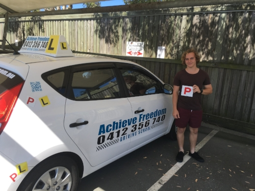Congratulations to Jake Hoult on passing his driving test with Achieve Freedom Driving school at Burliegh Heads on the Gold Coast.