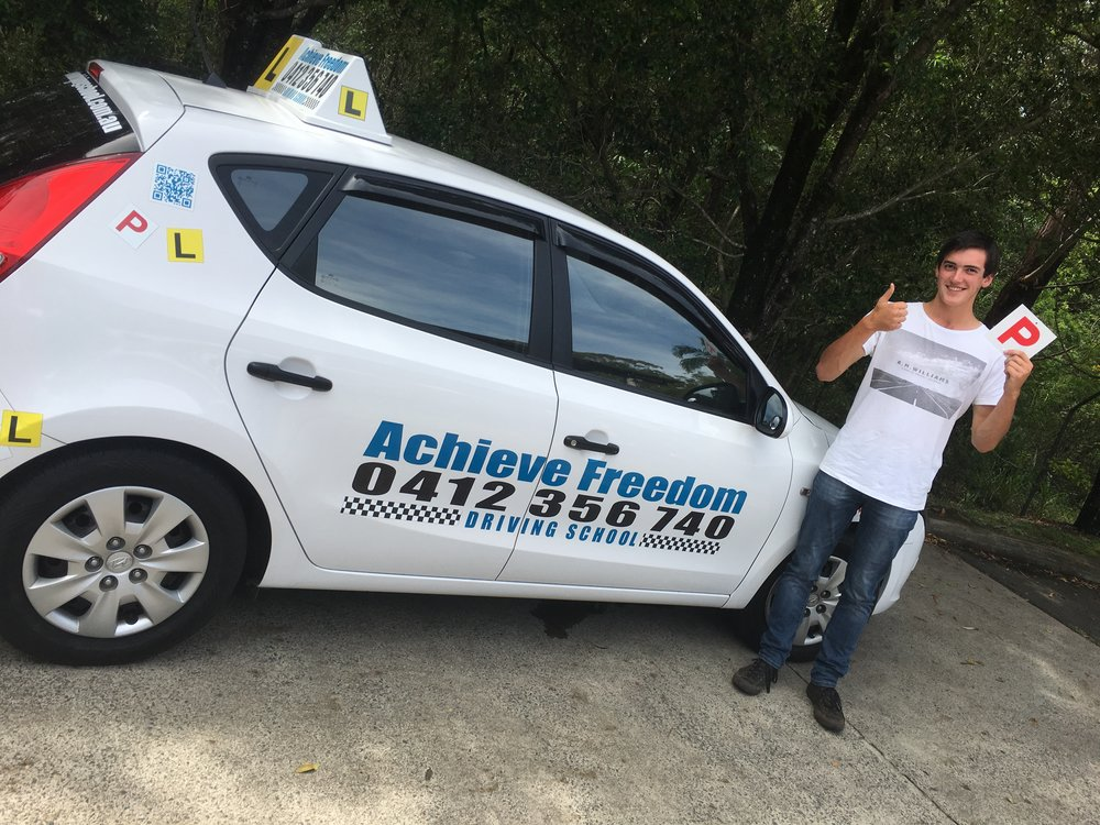Another first time P plate pass with Achieve Freedom Driving School                                                           0412356740