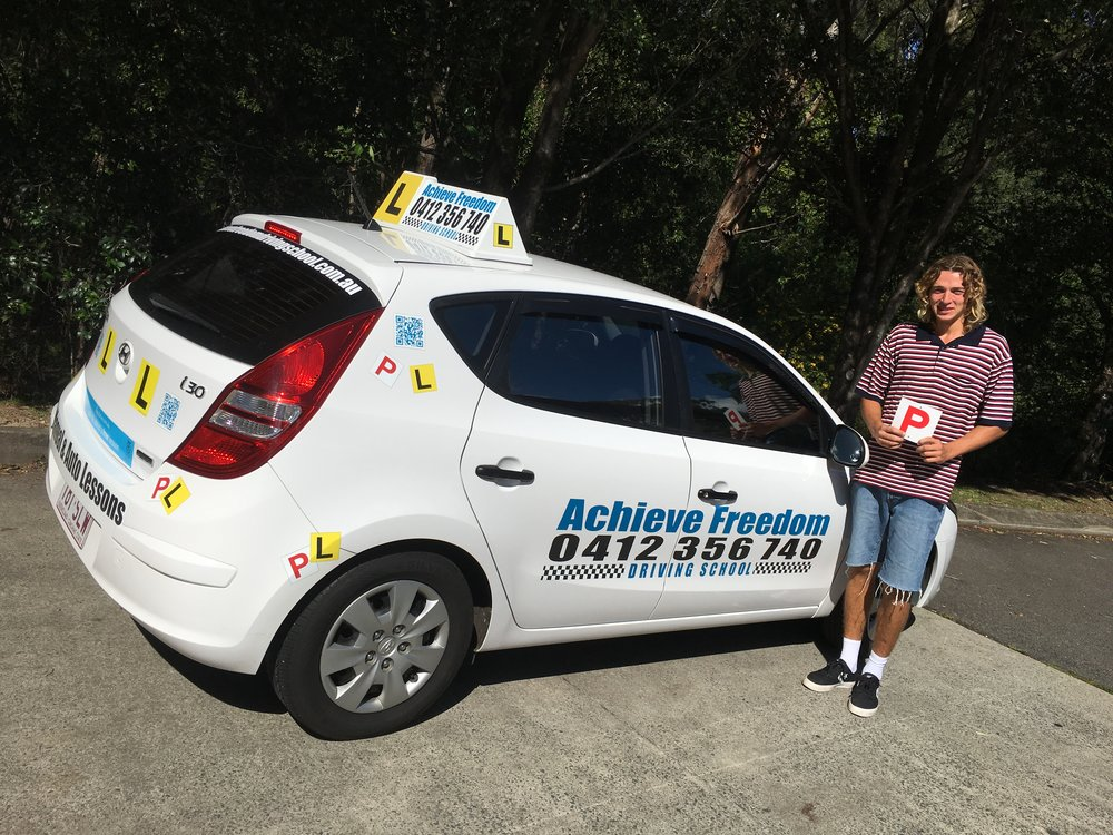 Kalab From Beechmont in the Gold Coast Hinterland Passed his driving test first go with Achieve Freedom Driving School at the Southport TMR Call now on on 0412356740 to pass your driving test.