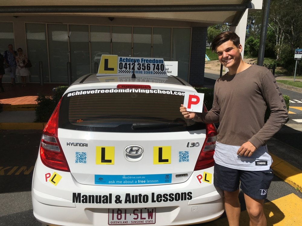 Congratulations to Callum Harris, on passing his driving test at the Helensvale driving test centre, another first time pass with Achieve Freedom Driving school! Call 0412356740 NOW!!!