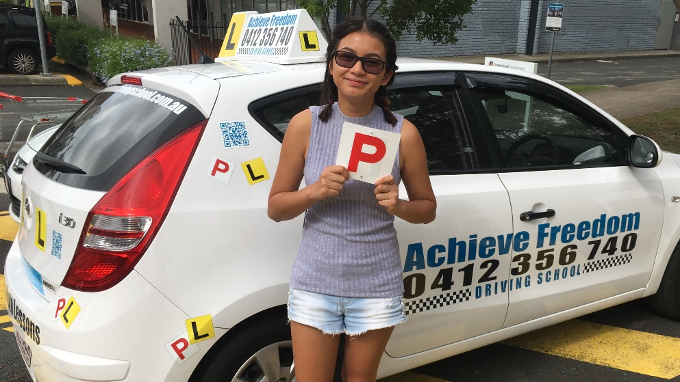 Another Achieve Freedom Driving School Student Passes first try at the Helensvale TMR 0412356740