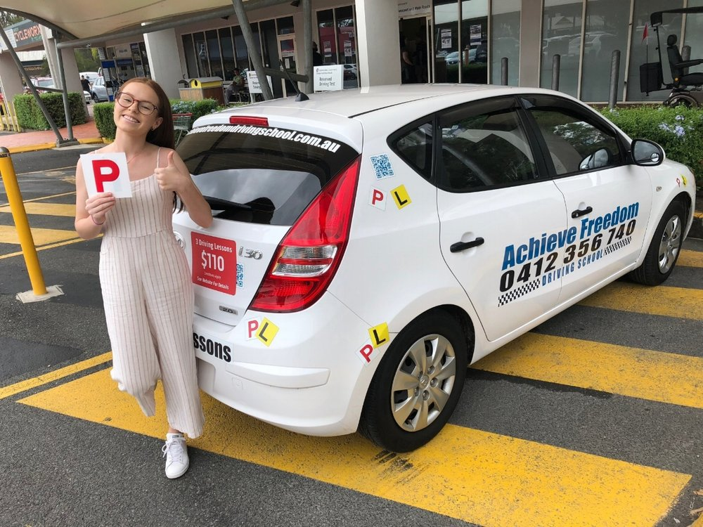 Congratulations to Chloe Williams on passing her Driving test at the Helensvale Transport and main roads in the Automatic Hyundai i30 on the Gold Coast