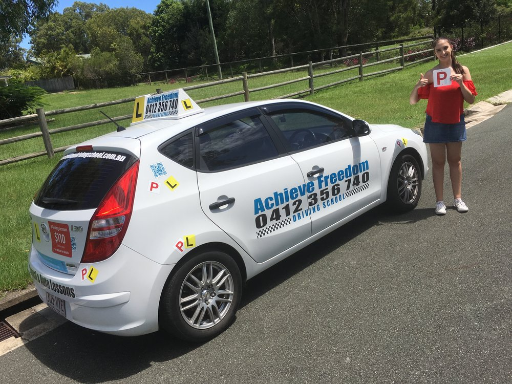 Congratulations to Georgia Clare on passing her driving test first attempt in the automatic Hyundai i30 at the Transport and Main Roads Helensvale Branch