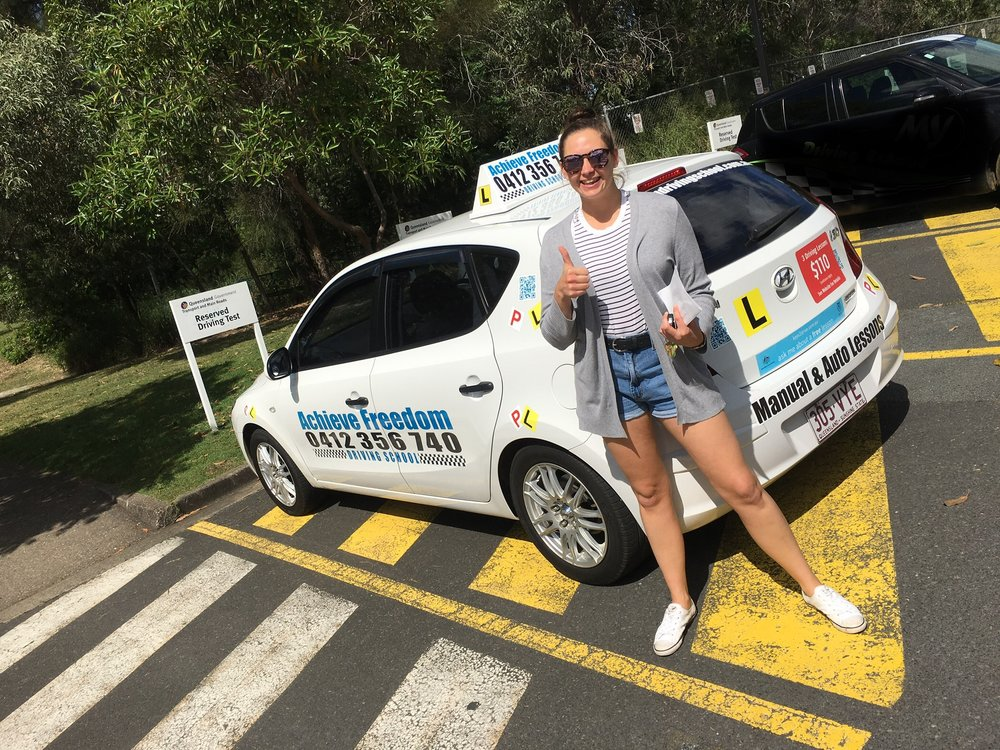 Congratulations Keira, first time pass at Helensvale Transport department!
