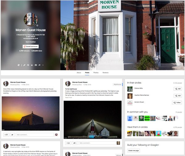 Morven House Google+ page