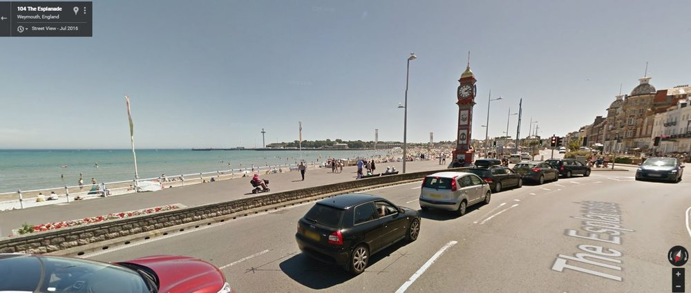 Weymouth Esplanade on Street View