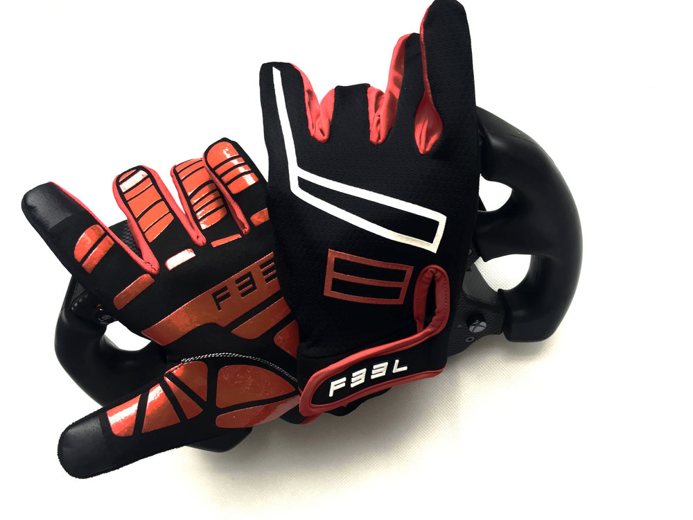 F33L's ergonomically designed sim racing glove, the SR2's out now!