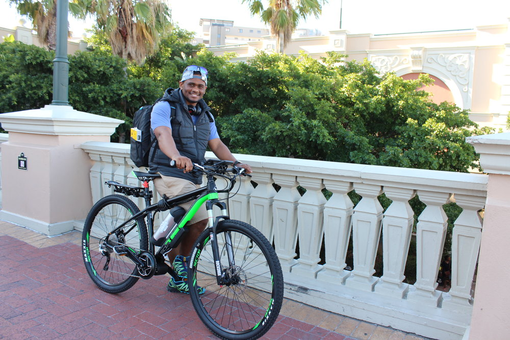 Our friend from Angola who is working and studying in Cape Town also went for an Electric mountain Bike conversion.