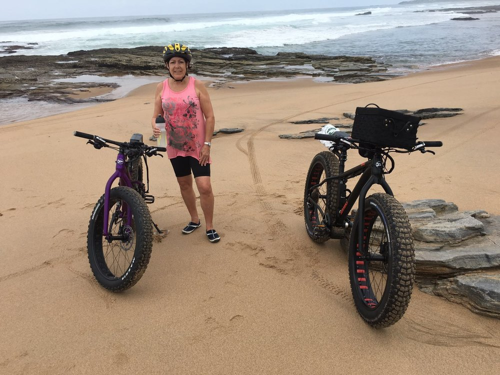 South Coast Durban. This couple has done over 2000km on their electric fat bike conversions.