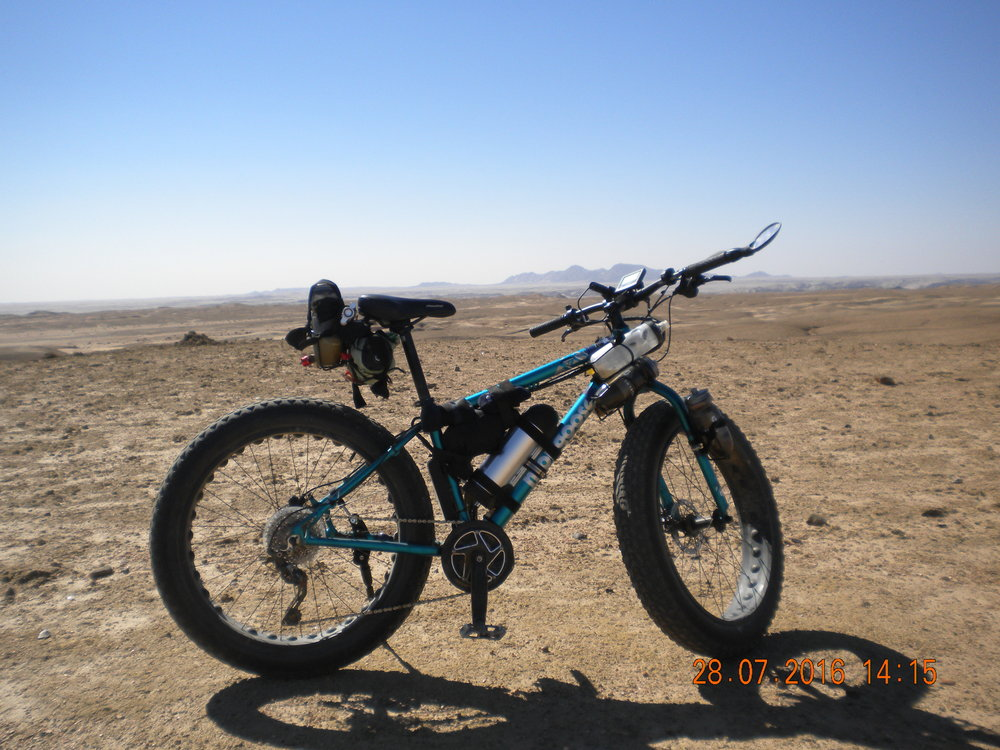 Namibia, Swakopmund. What better place than the desert to ride your e-vettie. Perfect for handling sandy, harsh  terrain.