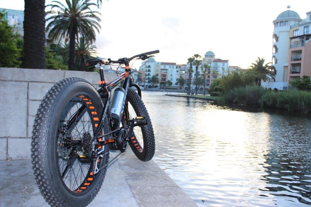 Century city, Cape Town. Another Electric fat bike conversion.