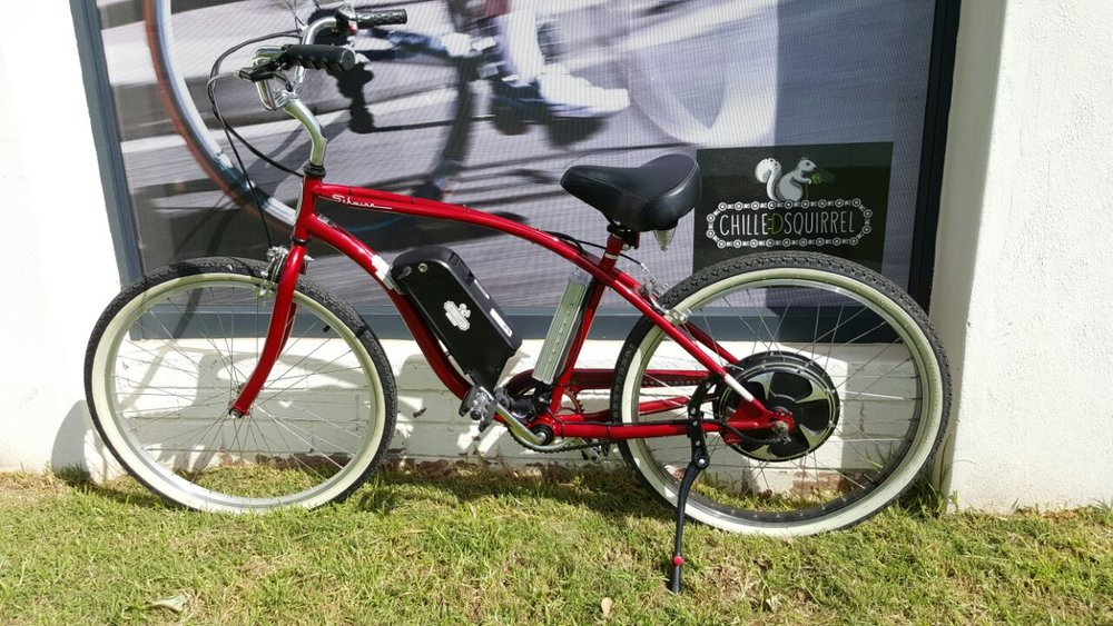Schwinn S1 Cruiser with a whacking 1000w perfect for just about any hills in Cape Town. Average speed 45km/hour.