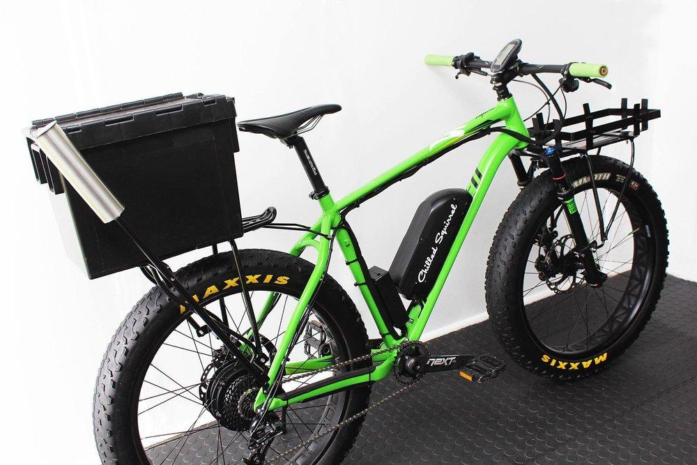 Custom-made fishing e-fat bikes.