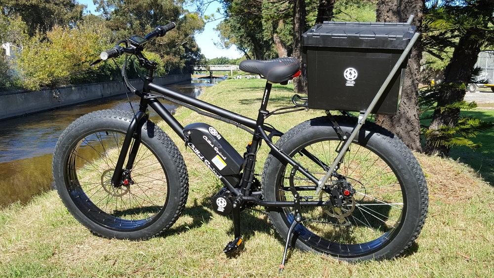 e-fat electric fat wheel bicycles beaches fishing