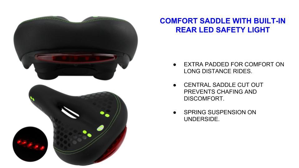 saddle comfort electric bicycle