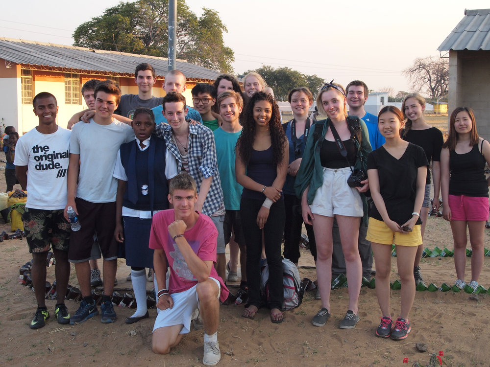 Ecolint group 2014 with sponsored student